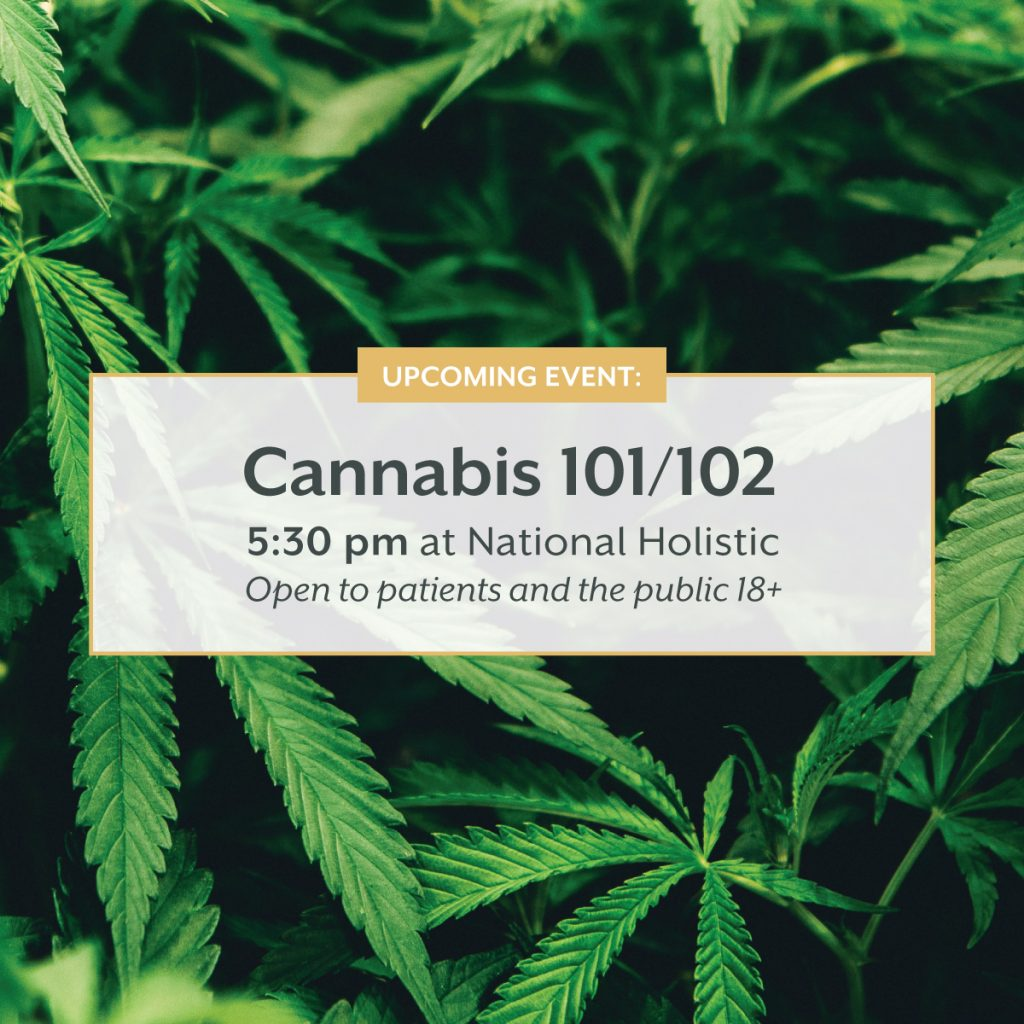 Cannabis 101 & 102 (Intermediate) @ National Holistic Healing Center