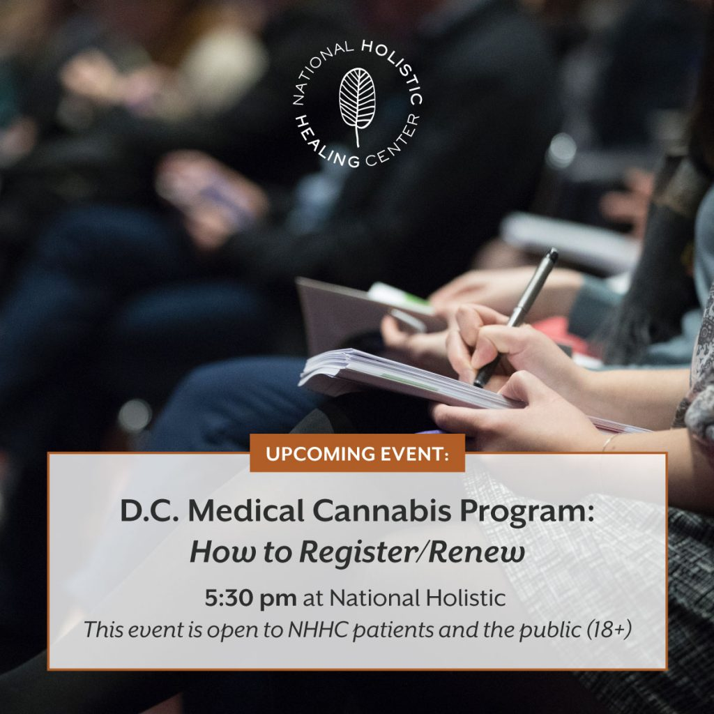 D.C. Medical Cannabis Program: How to Register/Renew @ National Holistic Healing Center